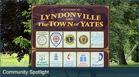 Lyndonville NY and the Town of Yates